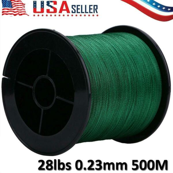 Super Strong PE Braided Fishing Line 4Strands 500M 28lb Multi filament Fish Rope
