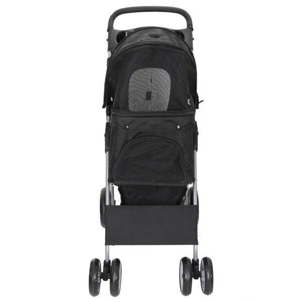 Dog Stroller Pet Travel Carriage 4 Wheeler with Foldable Carrier Cart Durable $69.99