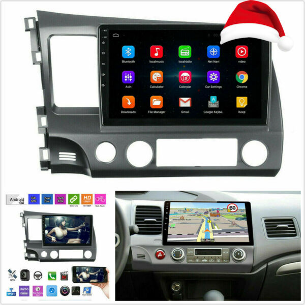 10.1#x27;#x27; HD Android 9.1 Quad core Car Stereo Radio GPS WIFI Player For Honda Civic $139.89