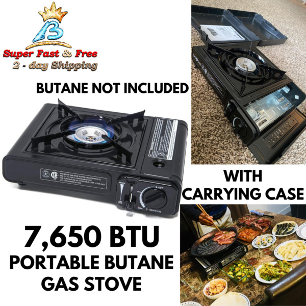 Table Top Portable Butane Gas Stove Burner With Case For Korean Grill Camping