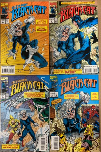 Black Cat (Felicia Hardy) Limited Comic Series Issues 1 Thru 4 (1994)