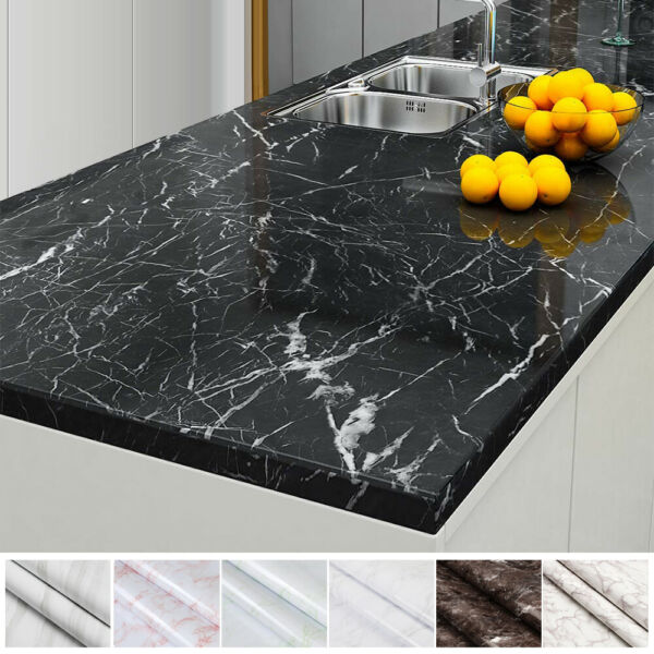 Marble Paper Self Adhesive Peel amp; Stick Wallpaper Kitchen Countertop Removable