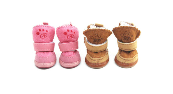 Warm Winter Pet Dog Boots Puppy Shoes Protective Anti slip Apparel for Small Dog $7.99