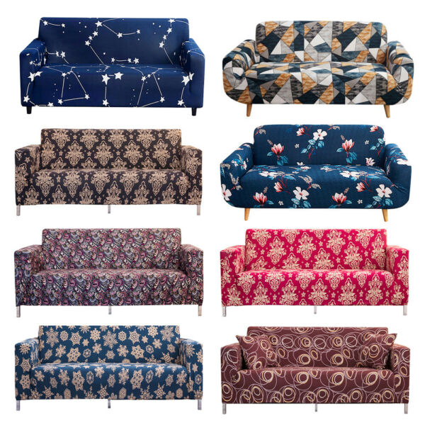 1 2 3 4 Seat Sofa Cover Spandex Stretch Floral Printed Couch Slipcover Protector $25.99