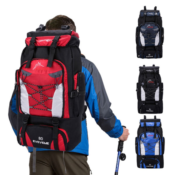 80L Outdoor Hiking Backpack Waterproof Travel Camping Daypacks Climbing Bags $21.99