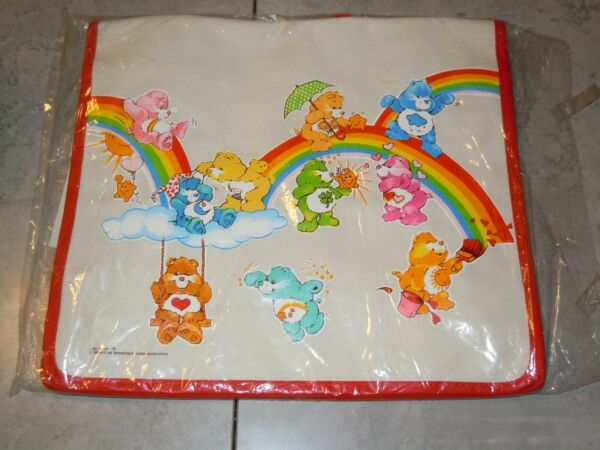 Vintage CARE BEARS American Greetings NEW BACKPACK CARE FOR ALLS BAG 1983 RARE