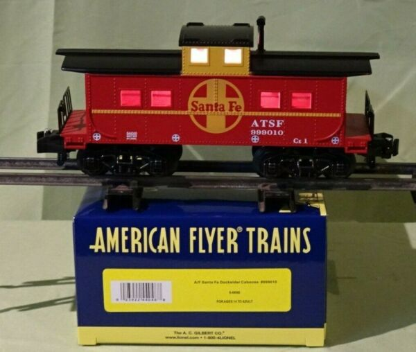 American Flyer by Lionel 44048 Santa Fe Illuminated Caboose #999010 S gauge '18 $40.00