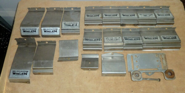 LOT of 18 Whelen LIGHTBAR MOUNTING GUTTER STRAP LIGHT BAR MOUNT BRACKETS
