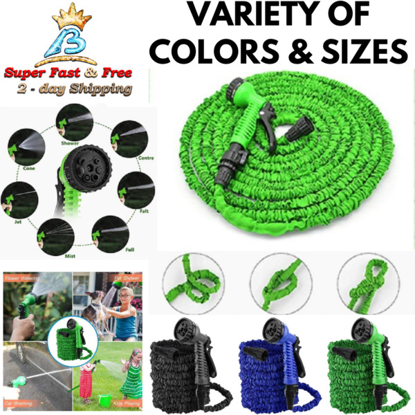 Upgraded Expandable Water Hose Pet Shower Car Wash Flower Watering Garden Hose