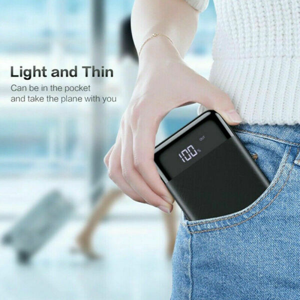 20000mAh Extra Small Power Bank Ultra thin and Portable for all Phones. $17.97