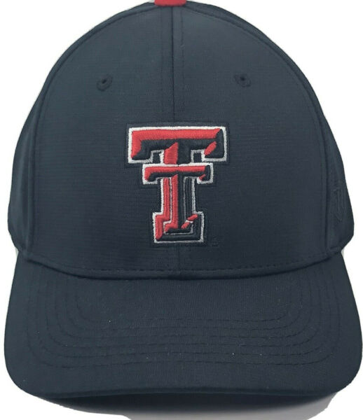 Texas Tech Red Raiders Top of The World M L One Fit All Black Reg $27 $11.00