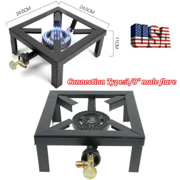 Portable Camp Stove Single Burner Propane Gas Stove Outdoor Cooking BBQ Cooker