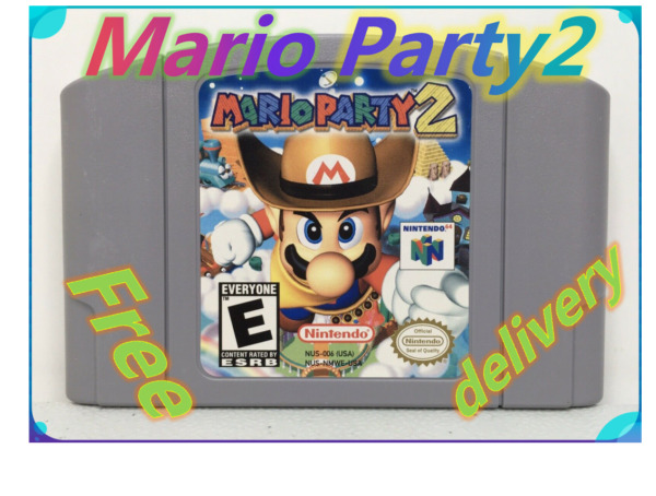 TOP Mario Party2 For Nintendo 64 Video Games Cartridges N64 Console US Version $19.99