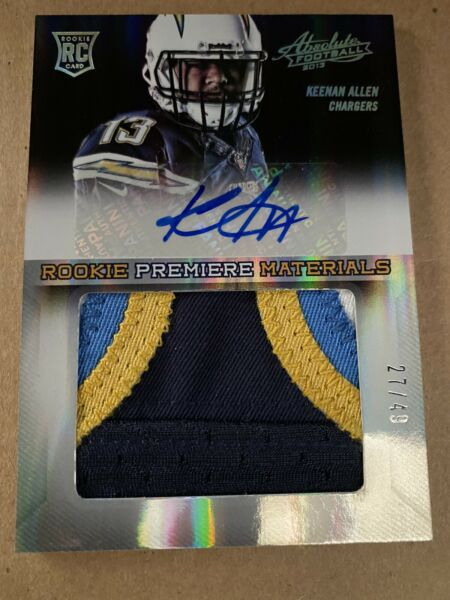 2013 Panini Absolute Keenan Allen 4 Color Rookie Patch Auto 27 49 Chargers $75.00