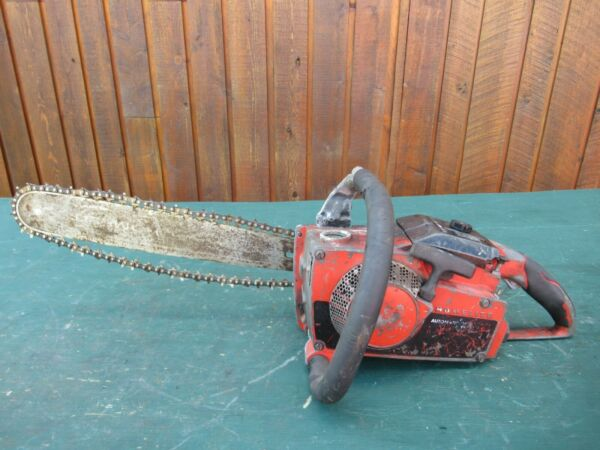 Vintage HOMELITE Chainsaw Chain Saw with 15quot; Bar $99.94