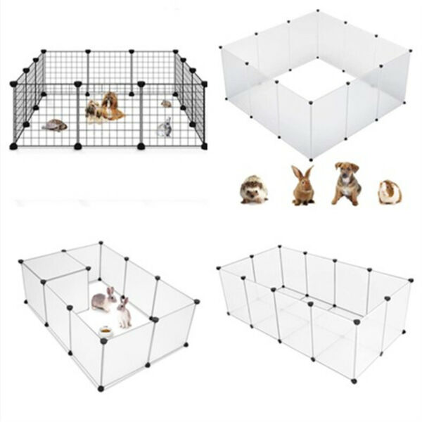 Portable Metal Dog Pet Playpen Crate Animal Fence Exercise Cage Multi Size $27.99