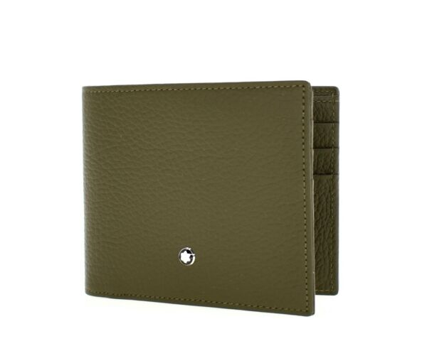 Montblanc Bifold Wallet Meisterstuck Military Green Leather New