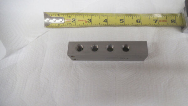 Stainless 5 port distribution manifold 1 4 npt in 1 8 npt x 4 out 4quot; x 1quot;