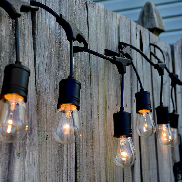 48FT LED Outdoor Waterproof Commercial Grade Patio Globe String Lights Bulbs $42.95