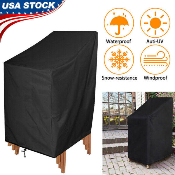 Waterproof Outdoor High Back Patio Single Chair Cover Protection Furniture USA