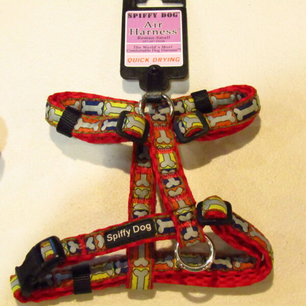 Spiffy Dog Dog Air Harness Roman Pattern Adjustable 10quot; 22quot; Girth Quick Drying $15.00