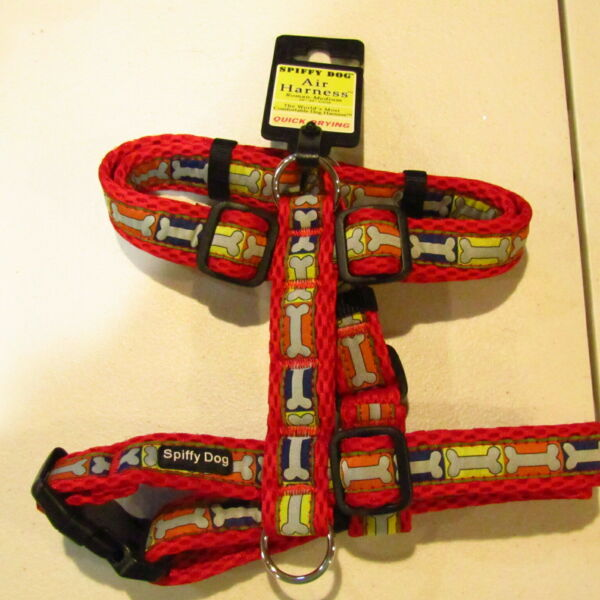 Spiffy Dog Dog Air Harness Roman Adjustable 20quot; 32quot; Girth Quick Drying Comfort $20.00