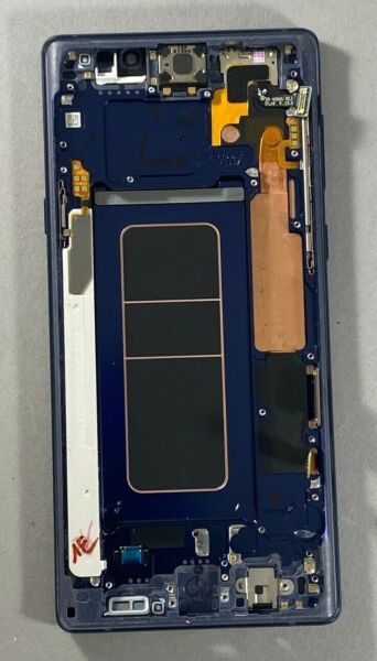Samsung Galaxy Note 9 LCD Ocean Blue Screen Digitizer Assembly Frame N960 OLED