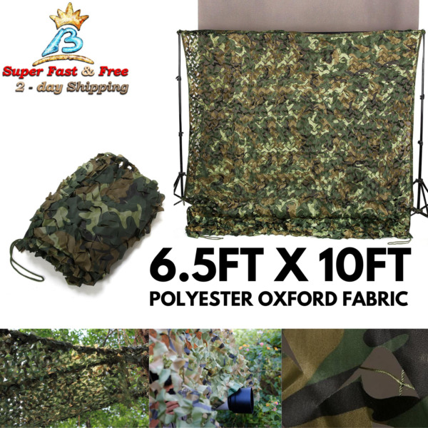 6.5x10 Ft Woodland Camouflage Netting Desert Camo Net For Camping Hide Decor NEW