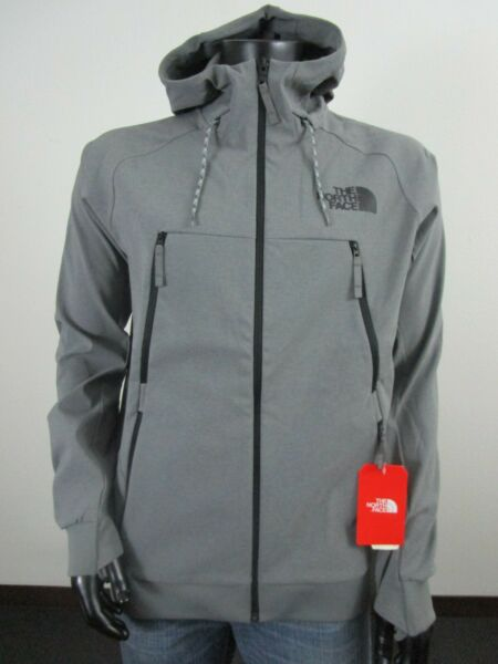 NWT Mens TNF The North Face Tekno Softshell Hoodie Hooded Jacket Grey $120