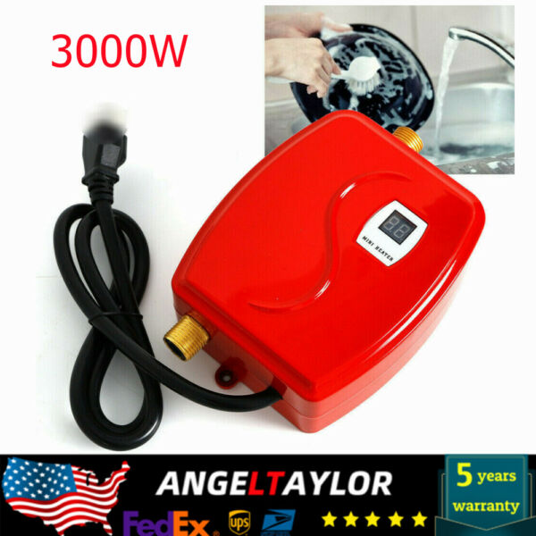 Mini Electric Tankless Water Heater Instant Water Heating 110V 3000W BRAND NEW $53.02