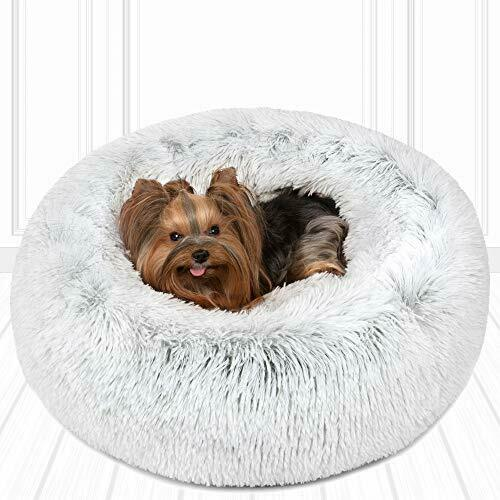 Friends Forever Luxury Pet Calming Bed for Dogs Faux Fur Anti Anxiety Dog Beds $9.16