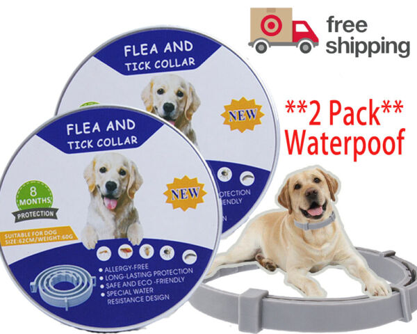 Flea and Tick Collar for Dog Two Pack Adjustable 16 Month ProtectionFreeShip $12.85