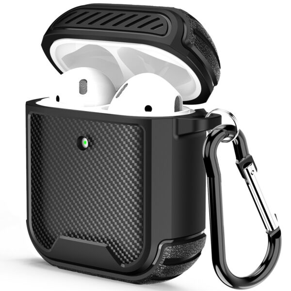 For Apple AirPods Pro Case Carbon Fiber TPU Shockproof Charging Slim Cover Skin $7.99
