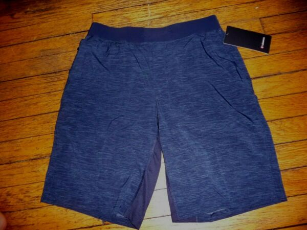 LULULEMON MEN#x27;S THE SHORT 11quot; *LINERLESS HEATHER ALL OVER IRON BLUE SZ M NWT