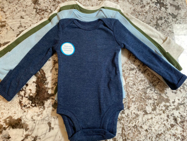 NWT 4 BABY BOY CARTERS LONG SLEEVE BODYSUITS SIZE 9 MONTHS $9.99
