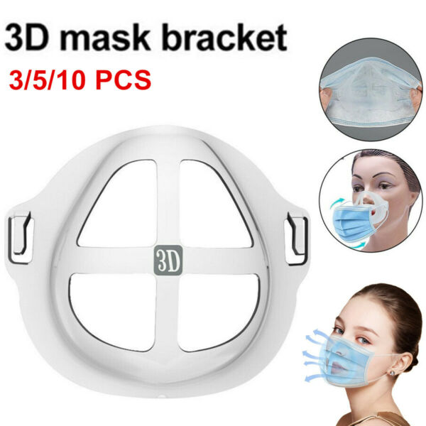 3 5 10PCS 3D Face Mask Bracket Mouth Separate Inner Stand Holder Breathing Space