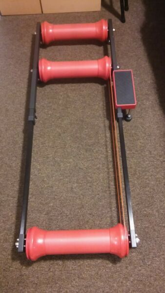 Indoor Cycling Stationary Roller Bike Trainer Adjustable Exercise Fitness Fold $45.00