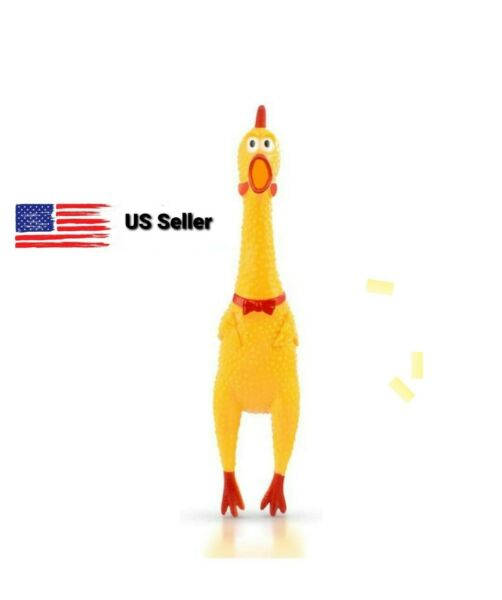 Screaming Chicken Pets Dog Toys Squeeze Squeaky Sound Funny rubber chew Toy $6.20