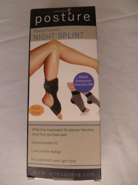 Posture Night Splint Plantar Fasciitis amp; Heel Pain w Size S M Compression Socks