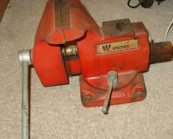 WILTON VICE VISE SWIVEL W ANVIL JAW WIDTH 4quot; JAW OPENING 3 3 4quot; WORKS NICELY