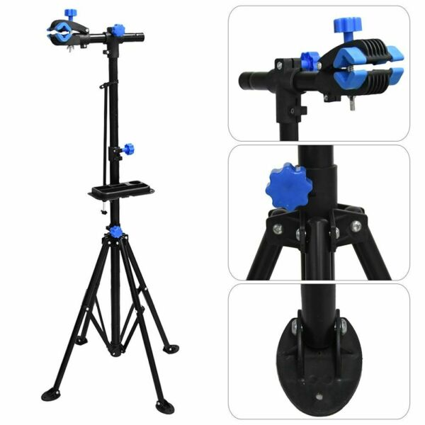 Bicycle Repair Stand Professional Maintenance Mechanic Bike Stand With Tool Tray $49.68