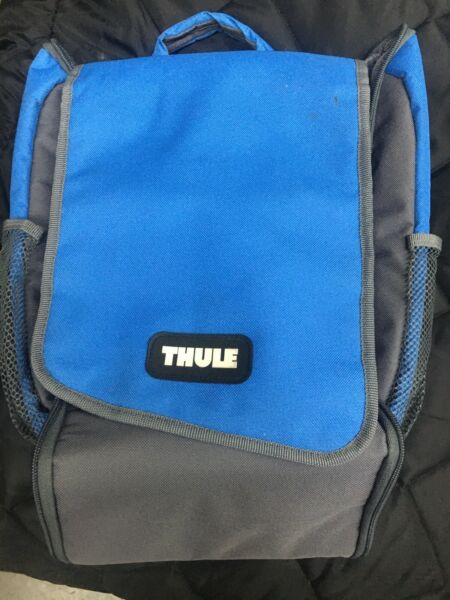 Rare THULE Bicycle Bike Hiking blue fold out Trip Touring Safety Pouch Grip bag $34.90