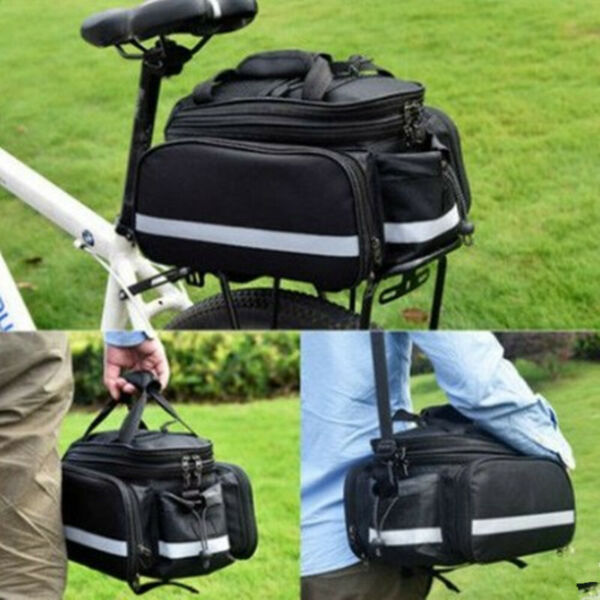 Bicycle Carrier Bag Rear Rack Bike Trunk Bag Luggage Pannier Back Seat Bags 20L $28.93