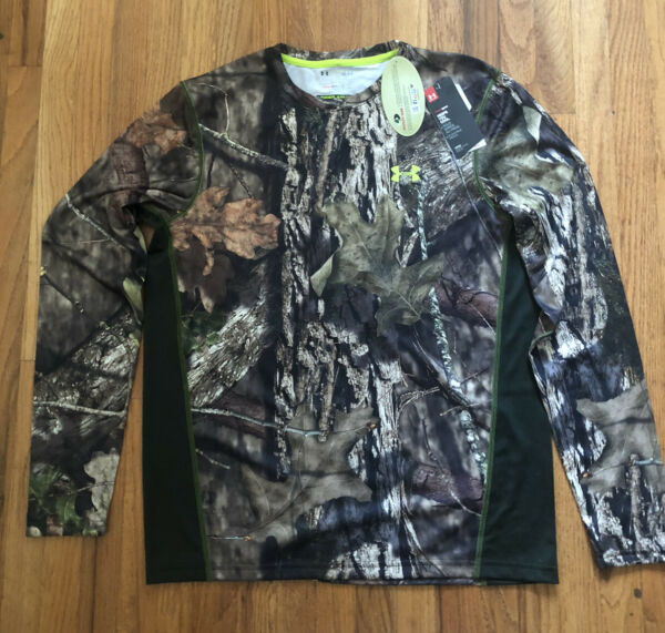 Under Armour Mossy Oak Camo Large Long Sleeve Shirt 1259147 278 $50