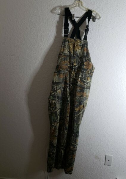 Cabelas Hunting Camo Coveralls Bibs Pants Overalls Mens Large