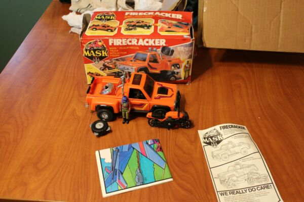MASK Kenner Firecracker w box Maclean bike bike rack tire headlights $140.00