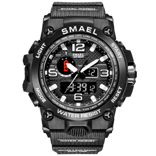 SMAEL Men#x27;s Sport Date Watch Digital Analog Military Waterproof LED Watches Gift