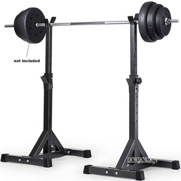 Fully Adjustable SQUAT RACK Stands Crossfit Weight Lifting Training Bench AA $73.10