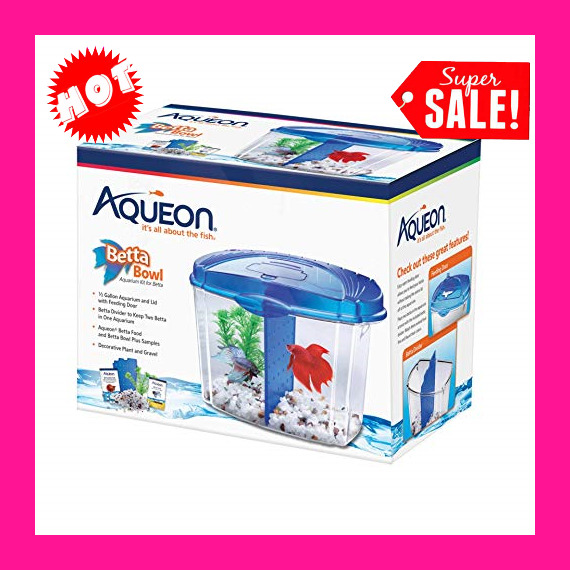 Betta Fish Tank With Divider Triple Beta Tank Deluxe With Filtration System New $16.00