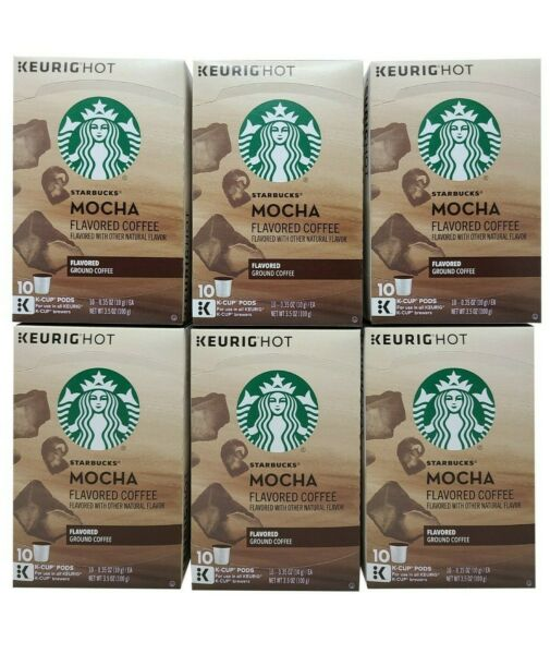 Starbucks Keurig Hot Mocha Flavored Ground Coffee 60 K Cup Expiration March 2020